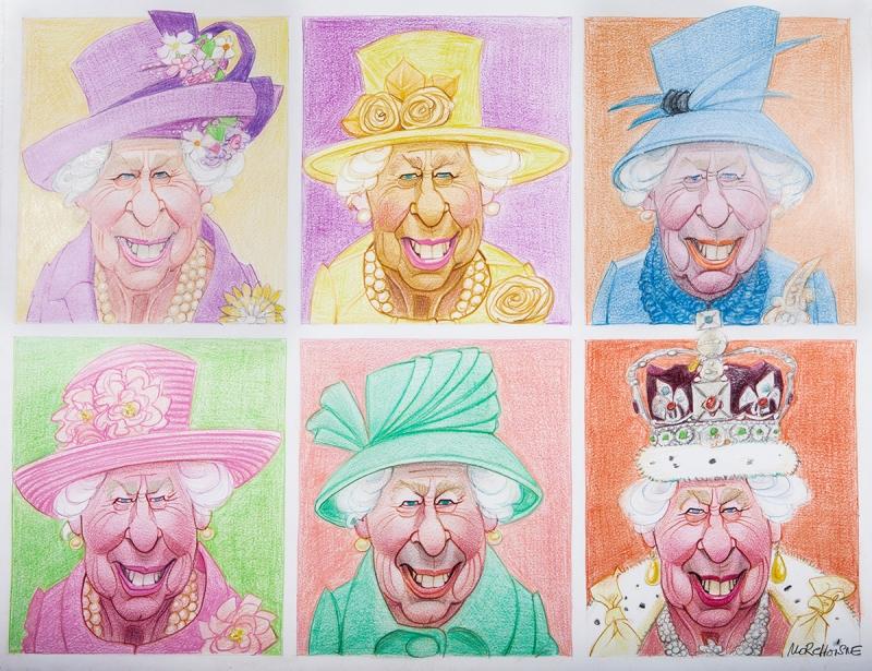 Elisabeth II patchwork by Morchoisne
